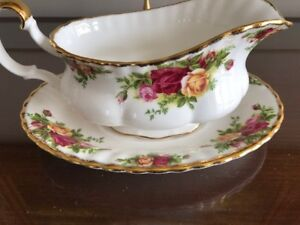 Saucière/assiette Old country roses - Royal Albert