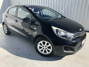 2012 Kia Rio UB MY13 S Black 6 Speed Manual Hatchback Mundingburra Townsville City Preview