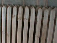 WOODEN FENCE PANELS, POSTS AND POST STAKES