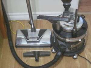 filterQueen canister vacuum with attachments