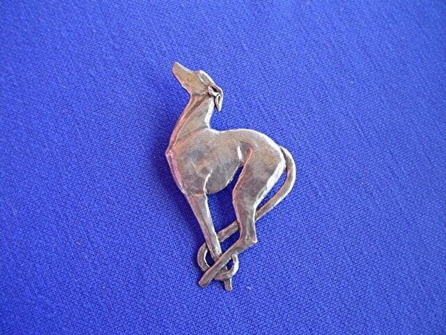 Deco Dog Pin Whippet Greyhound IG pewter #13A Sighthound Dog Jewelry CAC design