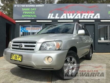 2005 Toyota Kluger MCU28R CVX Silver Automatic Wagon Barrack Heights Shellharbour Area Preview