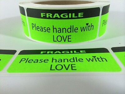 Fragile Handle With Love Labelsstickers 100 1.25x3 Ebay Shipping Labels Ebay