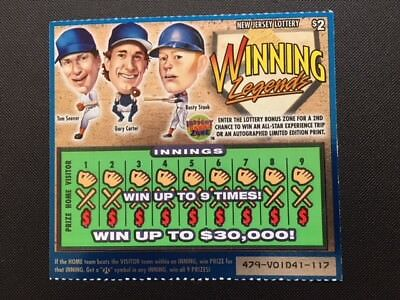 Ny Mets  2004 Nj Lottery Card W Seaver  Carter  Staub