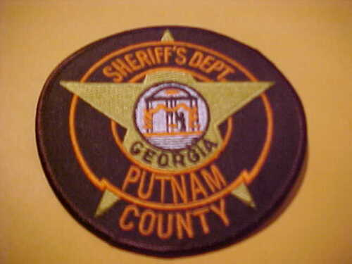 PUTNAM COUNTY GEORGIA POLICE PATCH SHOULDER SIZE NEW 4 X 4 INCH BROWN