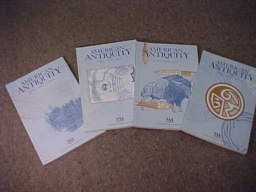 Complete set of 4-1997 American Antiquity-Journal Society American Archaeology