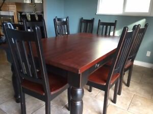 Dining Table and Chair Set, Ranch Style