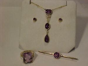 A PIECE OF THE PAST.VICTORIAN-15ct/9ct.AMETHYST/SEED PEARLS