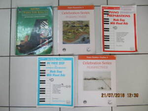 Classic 5pc Lot Of Piano Studies Beginner To Adavanced 1999-2008