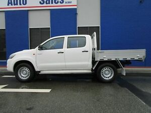 2013 Toyota Hilux KUN26R MY12 SR Double Cab White 4 Speed Automatic Utility Welshpool Canning Area Preview