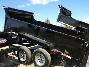 Telescopic 3 stage dump trailers in stock - 6 x 12 - 5 ton -SAVE London Ontario image 7