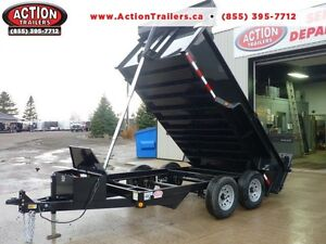 Telescopic 3 stage dump trailers in stock - 6 x 12 - 5 ton -SAVE London Ontario image 1