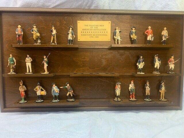 Franklin Mint 1981 American Revolution Pewter Soldier Figurines Yorktown
