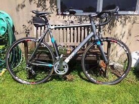 Kinesis TK3 Road Bike, Shimano Tiagra equipment, 60cm frame