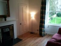 Cannonmills 3rd floor large 1 Bed. Furn. Flat £750pcm Fresh Decor Fitted Kitchen Victorian Fireplace