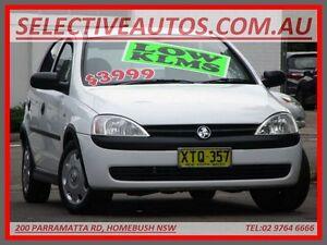 2002 Holden Barina XC White 5 Speed Manual Hatchback Homebush Strathfield Area Preview