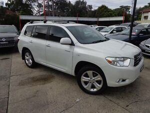 2008 Toyota Kluger GSU40R Grande (FWD) Pearl White 5 Speed Automatic Wagon Sylvania Sutherland Area Preview