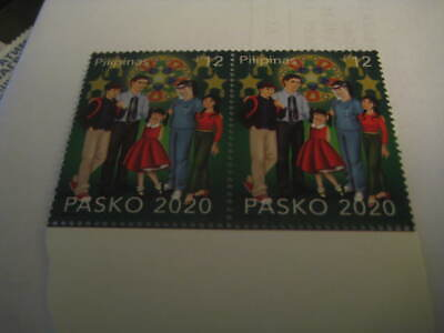 2020 Philippines Single Stamp on Christmas in pandemic, family wearing mask MNH