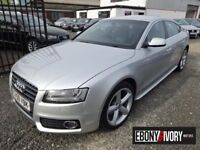 Audi A5 93351 Miles + 2.0T FSI 180 S Line 5dr + FULL SERVICE HISTORY (silver) 2010