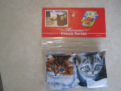 Multi Blue-Eyed Kittens-Cotton-Microwave Oven Mitts-Hot Pads