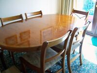 Dining Table & Six Chairs (2 Carvers)