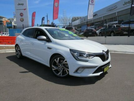 2017 Renault Megane BFB GT EDC Glacier White 7 Speed Sports Automatic Dual Clutch Hatchback Wickham Newcastle Area Preview