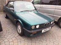1992 BMW 318i Convertible E30 Model 1.8 2 Door, original clean & tidy car, rare example, YEARS MOT,