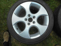 VW 17 inch ally rims, Continental tires