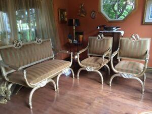 Mobilier de salon style Victor Emanuel 11,d'Italie