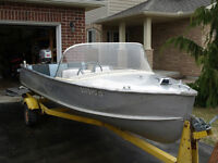 14 ft Aluminum Boat and Motor
