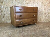 Rare Light Ercol Chest Of Drawers - solid elm retro design - Mid Century - free local delivery