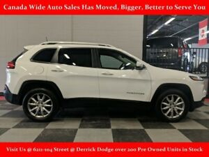 2017 Jeep Cherokee 4x4 Limited, Navigation, Sunroof, Back Up Cam
