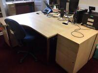 Office desks and pedestals
