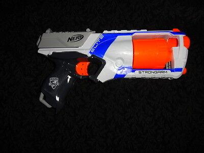 Nerf White Elite Strongarm Blaster Dart Gun - FREE SHIPPING