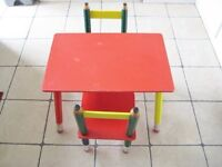 Kiddies All Wooden Nursery Table and Two Chairs £15.00 ono