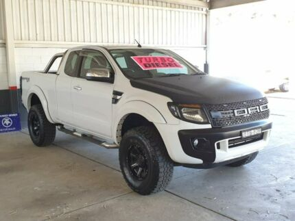 2012 Ford Ranger PX XL Super Cab 4x2 Hi-Rider White 6 Speed Sports Automatic Cab Chassis Homebush Strathfield Area Preview