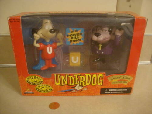 Vtg 1998 Underdog and Villain Riff Raff Limited Edition Series Collectible Toys!
