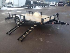 "NEW 2017 PJ 83"" x 12' UTILITY TRAILER for 2 ATVS"