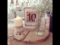 REDUCED: 30 Hand Made Rustic Table numbers