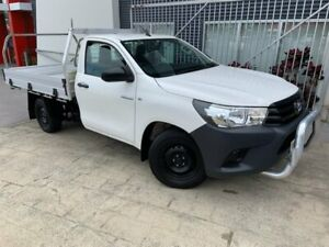 2017 Toyota Hilux TGN121R Workmate 4x2 White 5 Speed Manual Cab Chassis Springwood Logan Area Preview