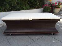 Antique concave chest / ottoman / blanket box