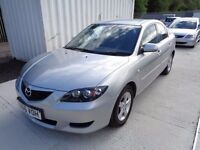 MAZDA 3 TS SILVER 2006 4 DOOR SALOON 98,000 MILES M.O.T 21/09/17 ONE OWNER, PART SERVICE HISTORY