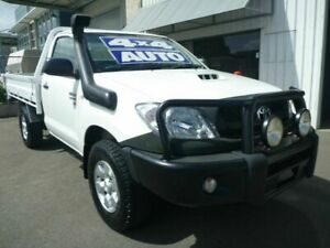 2008 Toyota Hilux KUN26R MY09 SR White 4 Speed Automatic Cab Chassis Edwardstown Marion Area Preview
