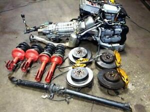 JDM 2004+ SUBARU WRX STI VERSION 8 TURBO VF37 EJ20T MOTOR MT 6 SPEED AWD TRANSMISSION BREMBO KIT AXLES HARNESS ECU