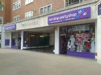 Full Time Experienced Sales Assistant Required for Non Stop Party Shop Kensington