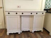 White painted shabby chic dresser