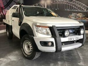 2012 Ford Ranger PX XL White Sports Automatic Cab Chassis Prospect Blacktown Area Preview