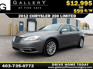 2012 Chrysler 200 Limited V6 $99 bi-weekly APPLY NOW DRIVE NOW