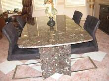 ITALIAN MARBLE TABLE MADE IN ITALY & 4 BLACK  CHAIRS  $1200 Bella Vista The Hills District Preview