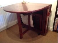 Foldable dining table and 4 chairs. (Great for space saving)